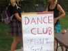 STA dance teacher Andrea Skowronek talks to students at the club fair about joining Dance Club. photo by Paige Powell