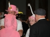 Two students and their fathers stand in line at the dance's drinks table. The Father-Daughter dance is a long standing tradition at STA. photo by Libby Hutchinson