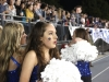 Freshman Margaret Vasquez takes a deep breath before performing at the Rockhurst High School halftime show Oct. 9.