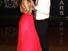 Sophomore Tannis Lierman slow dances with her date Harrison Feaster at the Teresian dance Oct. 17. photo by Paige Powell