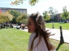 Sophomore Annie Schorgl walks in the quad at St. Teresa's Academy on Oct. 17. Photo by Meghan Baker.
