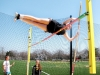 Junior Kennedy Reller practices pole vaulting during the track invitation held at STA April 4. STA received first place at the meet that day. by Viridiana Hernandez