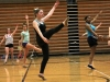 "Sophomore Meghan Daniels, center, and others auditioning practice the routine. ""€œThe dance that we had to try out to this year was harder than the past few years, but overall it was good,""€ Daniels said. by Viridiana Hernandez"