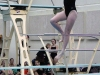 Sophomore Mary Kate Armstrong dives during ILCs Feb. 11. This was Armstrong's first year on dive team. photo by Mary Hilliard