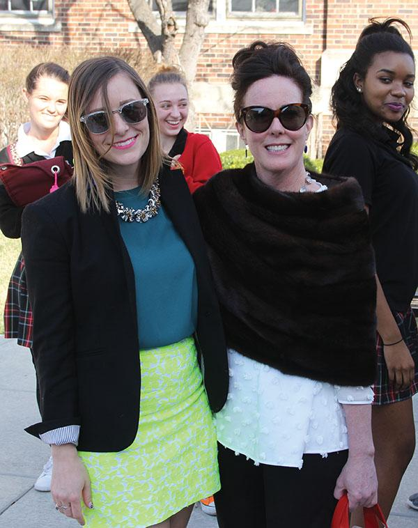 History Teacher Anne Papineau Poses With Kate Spade Valentine During Her  Visit To STA Mar