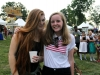 St. Teresa's Academy Juniors, Katrina O'Connor and Maura Graham are all smiles ar The Ethnic Enrichment Festival on Friday, August 19th, 2016. Photo by Helen Krause