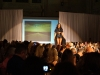 """A model from """"Gypsyblaque"""" struts down the runway Sept. 24. photo by Violet Cowdin"""