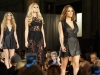 """Three models from """"Gypsy Blaque"""" strut their stuff on the runway. photo by Violet Cowdin"""