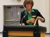 STA president Nan Bone smiles at the podium as the 2015 Mother Evelyn O'Neill Award Ceremony begins March 10. photo by Maggie Knox