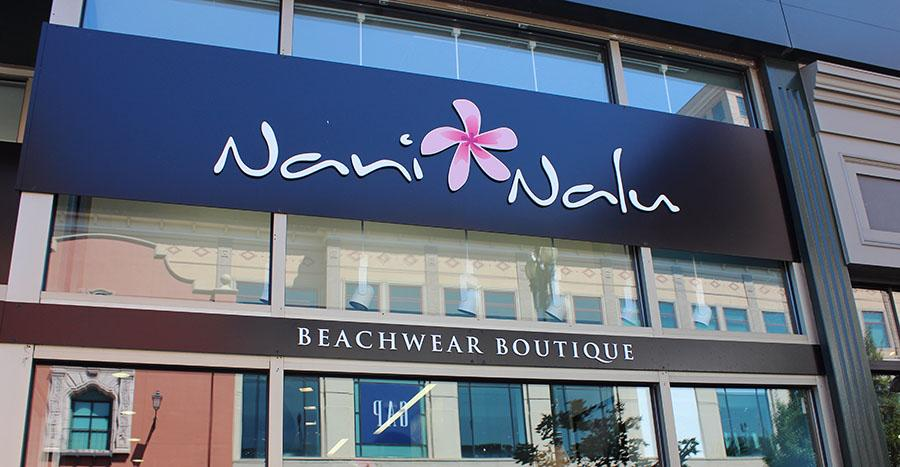 Nani Nalu located at 421 W. 47th Street next to Athleta and across for Gap and H&M. photo by Bridget Jones.