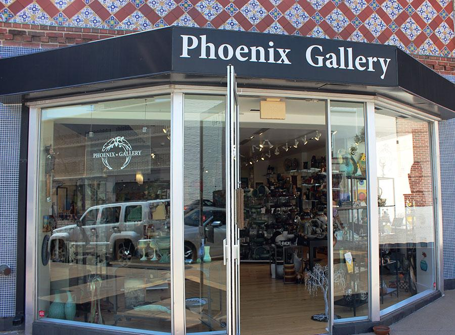 Phoenix Gallery located at 4740 Pennsylvania Ave next to O'Dowds. photo by Bridget Jones.