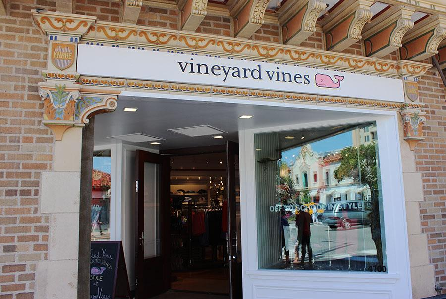 Vineyard vines located at 4700 Broadway St. next to Lucky Brand Jeans and across from Barnes and Noble. photo by Bridget Jones