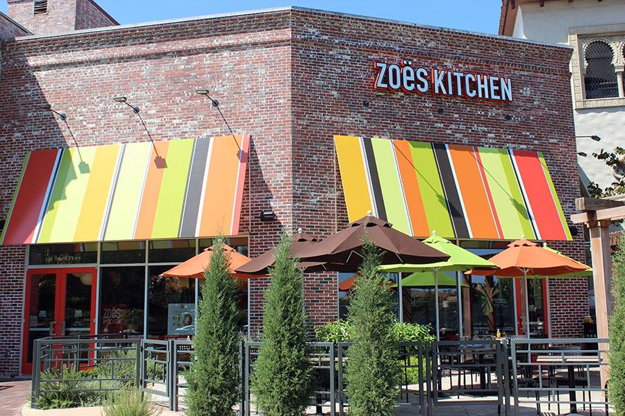 Zoës Kitchen located at 100 Ward Parkway, Between Fiorella's Jack Stack Barbecue and Fred P. Ott's Bar & Grill. photo by Bridget Jones.