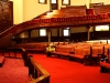 The sanctuary of Wesley United Methodist Church in downtown Minneapolis, Minnesota.