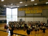 STA students dance on the gym floor in the Goppert Center after the pep rally Sept. 25. photo by Anna Hafner