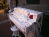 A Pianos on Parade piano, located at Briarcliff Village restauarant Trezo Mare. This piano was painted by Teresa Magel, a local artist. photo by Cassie Hayes