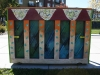 A piano painted by students at Oak Park High School sits across the street from Gladstone's Linden Square Apartments. About 100 pianos were placed around Kansas City to commemorate Keys 4/4 Kid's 100th anniversary. photo by Cassie Hayes