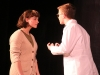 """Junior Emma Gustavson, left and Wolf Wheeler act in """"Universal Language"""" at tech rehearsal Feb. 17. photo by Maggie Knox"""