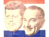 1960 Democratic Party candidates  from left, John F. Kennedy and Lyndon B. Johnson. photo by Kate Jones