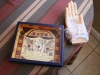 A psychic shop, located on Westport road, displays a small palmistry decoration. photo by Cassie Hayes