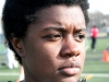 Senior Serenity Wallace mentally prepares for her hurdle events at the Miege Track Meet on April 6. Wallace has been a memeber of the STA track team since her freshman year. by Giggy Reardon