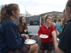 Seniors chat and enjoy their breakfast at the Senior tailgate Aug. 14. photo by Violet Cowdin