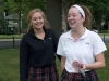 Seniors Kathleen Herrington and Maddie Summers enjoy the Senior tailgate Aug. 14. photo by Violet Cowdin