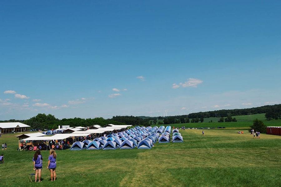 The tents of all eight teams in Wisconsin for training camp for the first week. STA Senior Jewell Allen was on the China team. photo courtesy of Jewell Allen