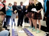 Terry Conner's Honor Physics class shows Mayor Sly James their hovercrafts they built Feb. 1. photo by Paige Powell