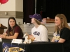 Seniors Kristina Coppinger, from left, Eleanor Lueke and Delaney Meyer wait to sign their letters of intent April 20 to play sports in college. photo by Maggie Knox