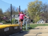 Sophomore Isabel Flores takes pratice approaches during her high jump practice April 3. photo by Kat Mediavilla