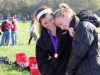 Senior Mary Hilliard, left, hugs fellow senior Claire Jefferson after their last cross country meet as runners in Kearney Oct. 10. photo by Anna Hafner