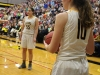 Senior Grace Kitts prepares to throw the ball inbounds. The Stars defeated Sion 62-40 for their senior night Feb. 24. photo by Kat Mediavilla