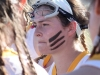 Junior Mary Hilliard listens to head coach Jessica Hanna at the STA vs Sion game March 31 at STA. The Stars won 19-4. photo by Siobhan Miller
