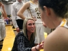 Coach Amanda Hanneman speaks to her team during an STA time out Jan. 20. The STA Stars lost 47-34 to the BMHS Stags. photo by Kat Mediavilla