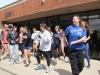 Seniors lead dancing during student appreciation day in front of the Goppert Center. photo by Anna Hafner