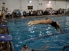 St. Teresa's swim and dive team kicks off Senior Night with a relay event. photo by Kate Scofield