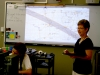 Ms. Conner uses her new Smart Board Tablet during her astronomy class. Conner utilizes technology throughout her lesson plans to provide an alternative learning method to her students. photo by Kate Scofield