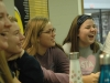 Juniors, from left, Olivia Matlock, Mamie Murphy, Lily Manning, and Catelyne Campbell laugh as they celebrate Thanksgiving with each other. The O'rear and Whitney advisory celebrated together. photo by Riley McNett