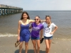 Senior Emma Zanher, far left, poses with her sister and cousin on Jershey Shore. (Photo courtesy of Emma Zanher)