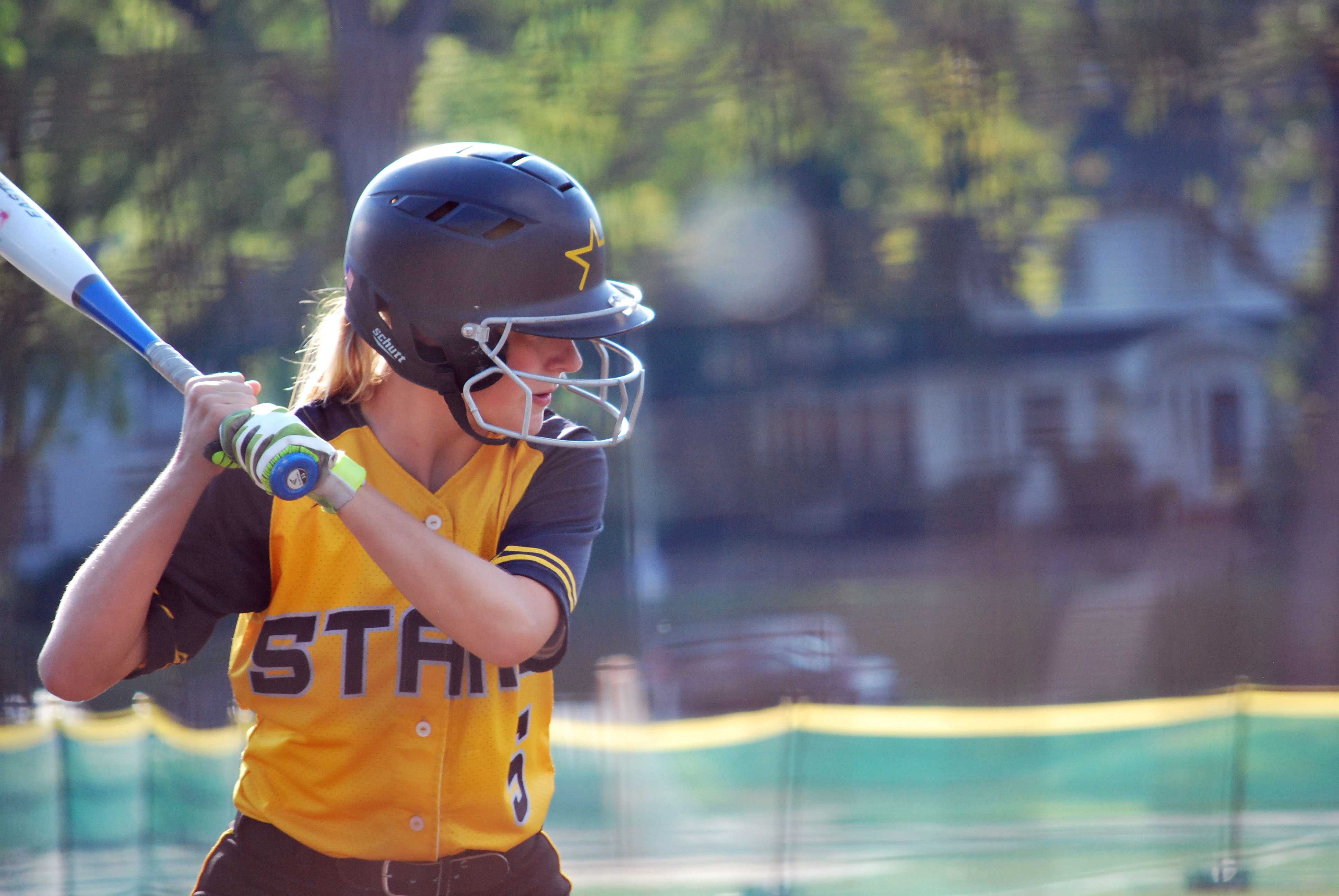 Junior Jackie Adams gets ready to bat at the game against Summit Christian Academy Wednesday Sept. 9. photo complied by Libby Hutchinson