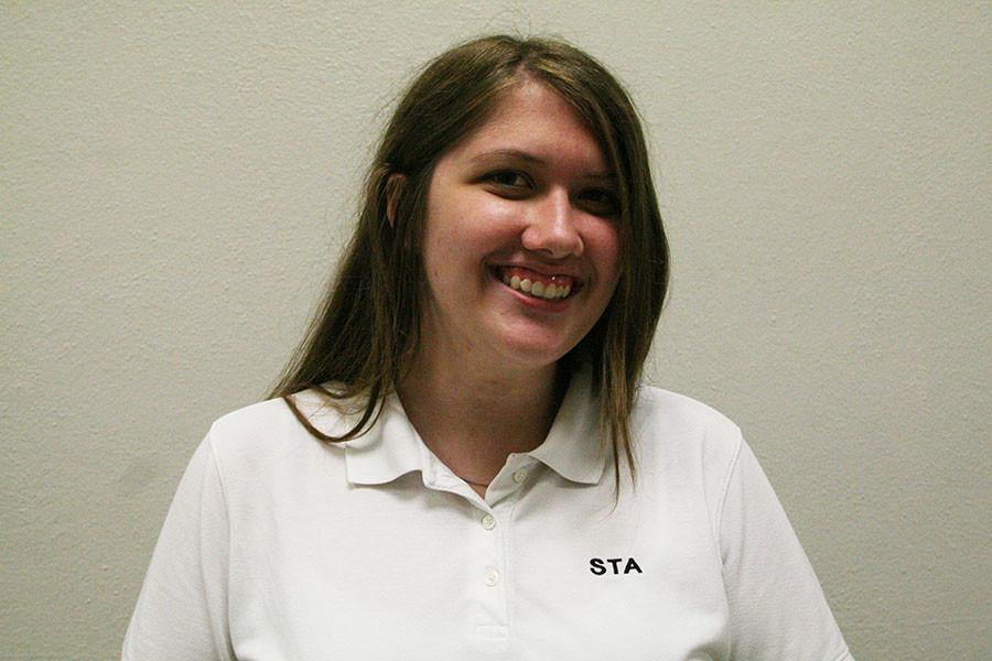 Junior Eilis Leptien is working on getting the Gold Award for girl scouts. photo by Cassie Hayes