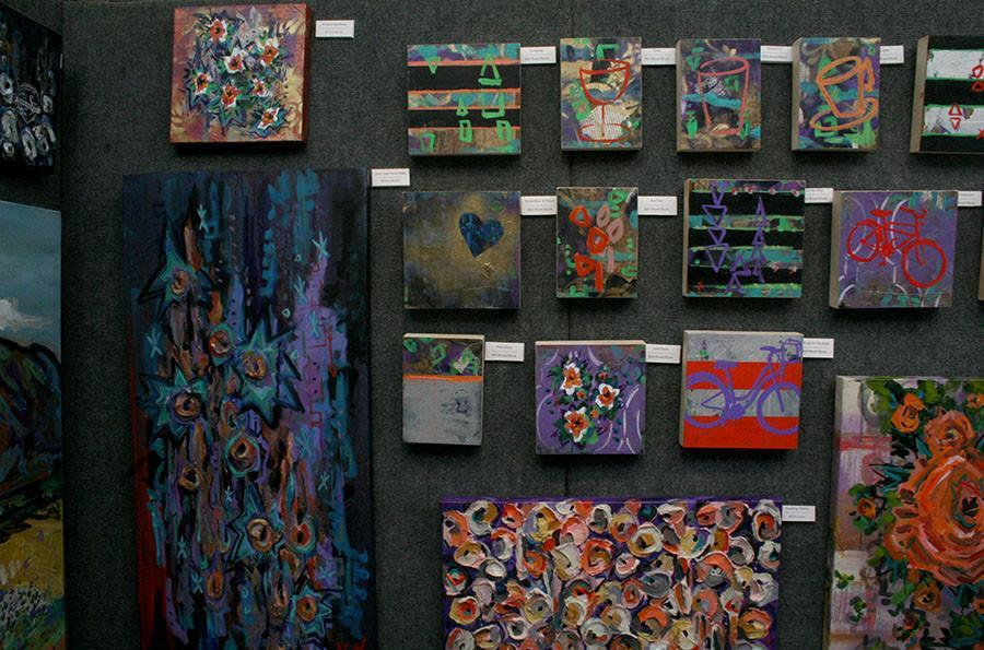 An artist's work set up in his booth for the Plaza Art Fair on Sept. 26. 240 artists displayed their work for viewing.