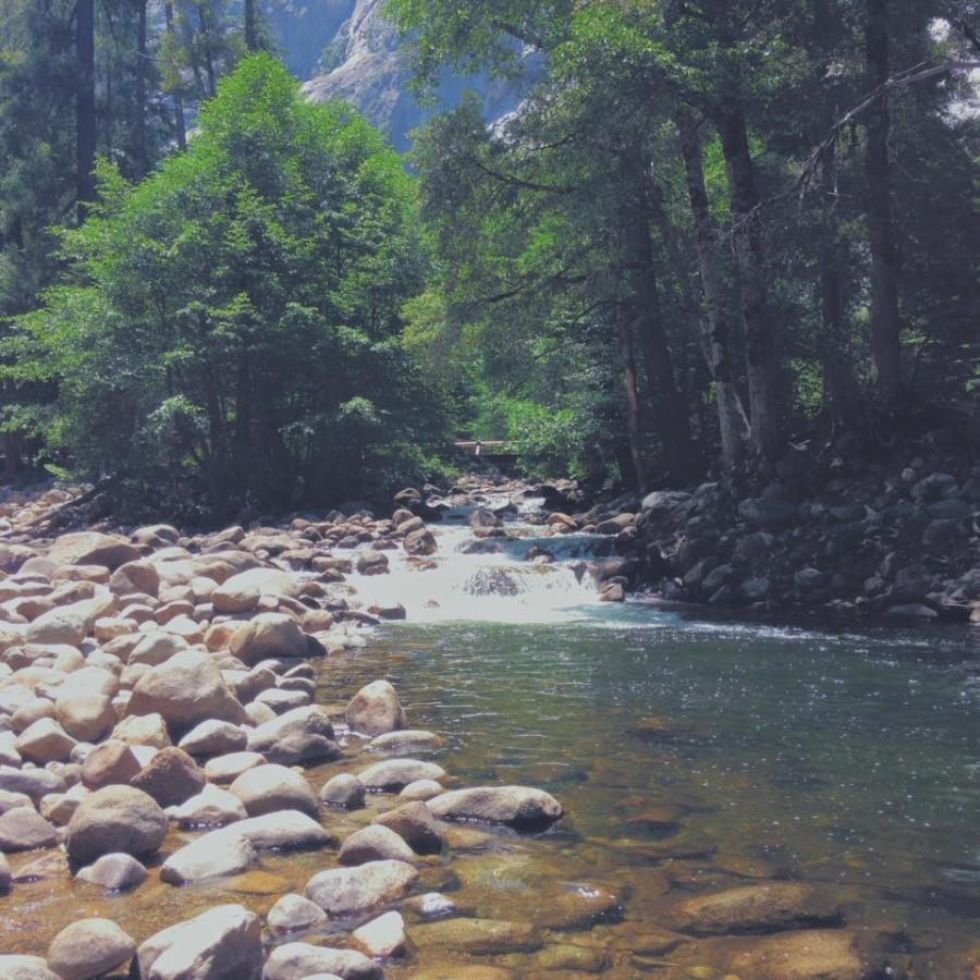 The creek near Vernal Falls