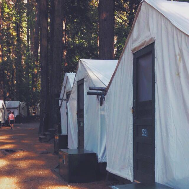 Our fabric cabins in Yosemite