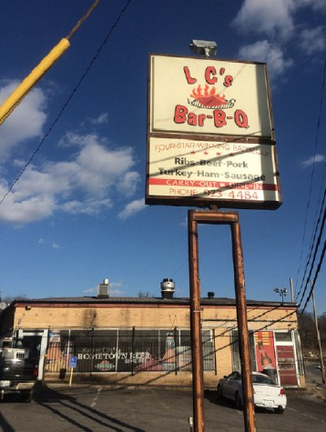 LC's Barbecue is located just four miles east of the Plaza on Blue Parkway. photo by Katie Donnellan