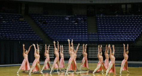 Dance team performs at Rockhurst