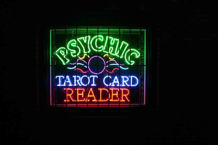 A psychich shop located off US-40 highway. photo by Cassie Hayes