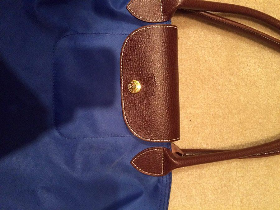 Senior Claire Jefferson purchased a Longchamp bag off eBay and discovered it was a knock-off. photo by Libby Hutchinson