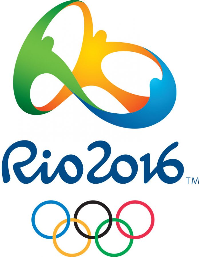 The Rio 2016 logo features three people holding hands, as well as the Olympic rings below. photo courtesy of Tribune News Service